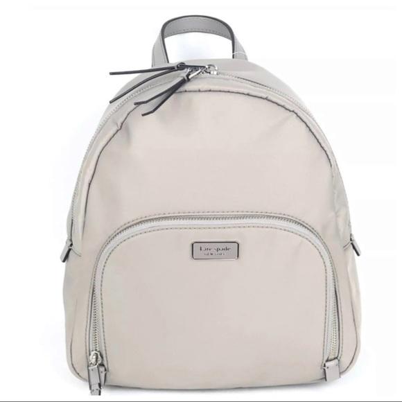 KATE SPADE Dawn Backpack soft taupe book bag